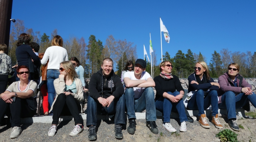 My colleagues and I visiting the Finnish Nature Center Haltia on a lovely day in April.