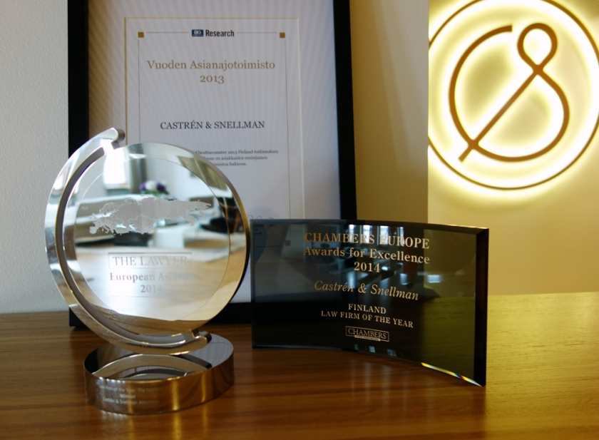 The awards brighten our mood every day in our lobby.